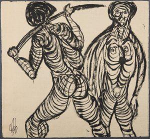 El Hombre Pez de Liérganes. Ilustración recogida en el BESTIARIUS STEBANENSIS.