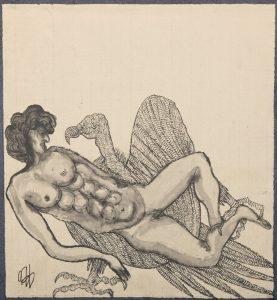 El Buitre de Prometeo. Ilustración recogida en el BESTIARIUS STEBANENSIS.