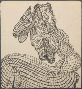 El Can Cerbero. Ilustración recogida en el BESTIARIUS STEBANENSIS.