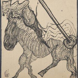 El Rucio de Sancho Panza. Ilustración recogida en el BESTIARIUS STEBANENSIS.