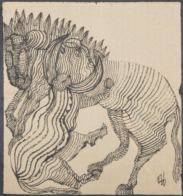 El Caballo de Atila. Ilustración recogida en el BESTIARIUS STEBANENSIS.