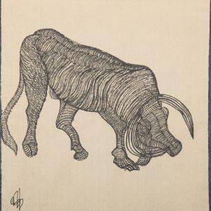 El Toro Granadino. Ilustración recogida en el BESTIARIUS STEBANENSIS.