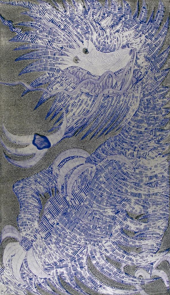 Dragón Joven (plata y azul)