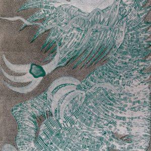 Dragón Joven (plata y verde)