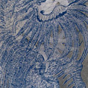 Dragón Viejo (plata y azul)